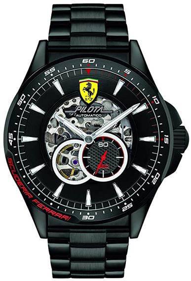 montre squelette homme modele Scuderia de la marque Ferrari