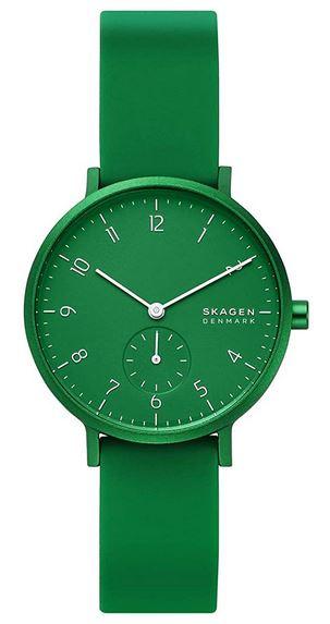 montre verte Skagen pour femme modele SKW2804