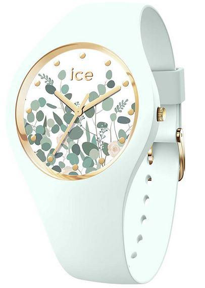 montre verte clair de la marque Ice Watch pour femme modele Ice Flower Mint Garden