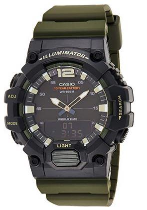 montre verte militaire Casio modele HDC 700