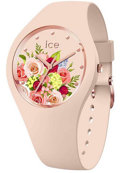 Ice Watch Flower Pink Bouquet pour femme montre originale en silicone rose clair