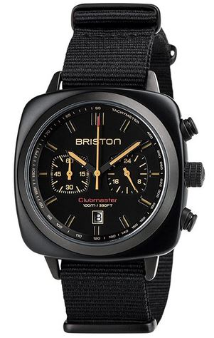 chronographe entierement noir pour homme de la marque Briston modele Clubmaster Sport Acetate