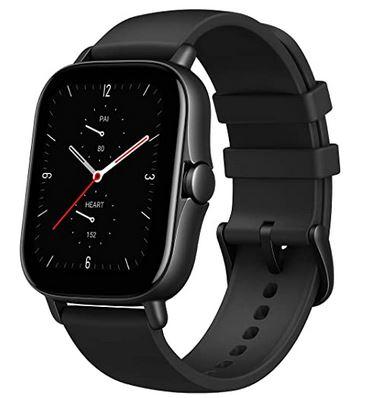 montre amazfit GTS 2eme generation smartwatch de couleur noir pour homme comme pour femme