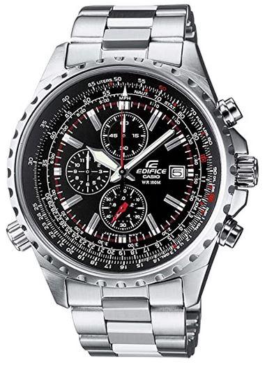 montre analogique Casio Edifice destinee aux hommes modele chronographe EF 527D 1AVEF avec boitier et bracelet en acier inoxydable argente
