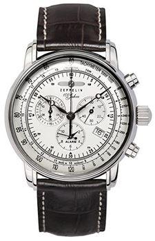 montre aviateur pilote davion de la marque allemande Zeppelin chronographe vintage pour homme