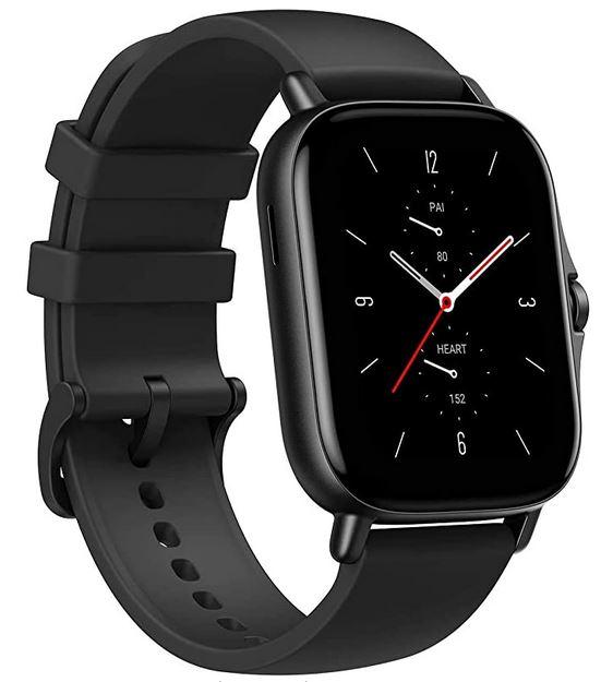 montre connectee amazfit GTS 2 toute noire au design unisex smartwatch avec de nombreuses fonctionnalites