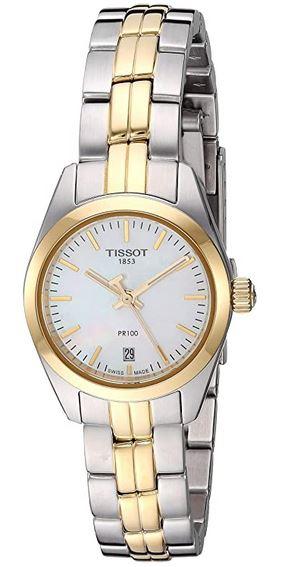 montre de luxe vintage pour femme de la marque Tissot modele PR 100 fabriquee en Suisse
