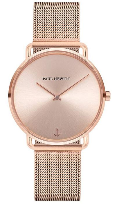 montre feminine Paul Hewitt entierement rose gold modele Line Rose Sunray