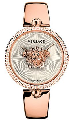 montre femme Versace Palazzo Empire Bangle rose gold avec un bracelet en acier inoxydable couleur or rose