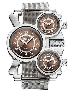 montre masculine totalement dejantee de la marque Avaner avec 3 cadrans superposes