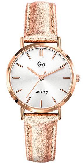 montre pour femme Go Girl only entierement rose gold avec un cadran blanc minimaliste