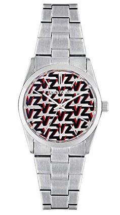 montre pour femme Zadig et Voltaire couleur argent avec cadran ZV rouge et noir