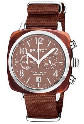 montre pour femme de la marque Briston modele Clubmaster Classic Acetate couleur terracotta chocolat
