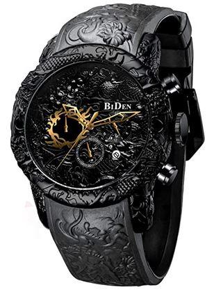 montre tres originale avec des designs 3D entierement noir de la marque Biden