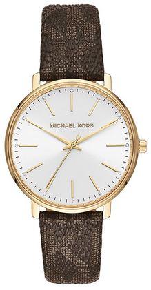 montre vintage de la marque Michael Kors pour femme avec un bracelet en PVC et un cadran analogique assez retro
