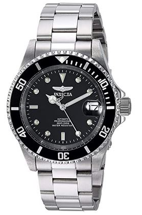 montre Invicta pour homme modele 8926OB avec un cadran noir de 40mm de diametre et un bracelet en acier