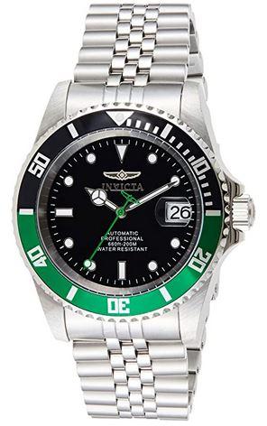 montre Pro Diver 29177 pour homme de la marque Invicta avec un cadran noir et vert de 42mm