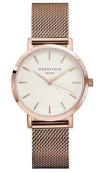 montre analogique rose gold The Tribeca de la marque Rosefield pour femme