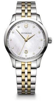 montre pour femme de la marque Victorinox modele Alliance Small en acier avec bracelet dore et argente