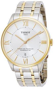 montre pour homme de la marque suisse Tissot couleur argent et or modele Chemin des Tourelles a mecanisme automatique