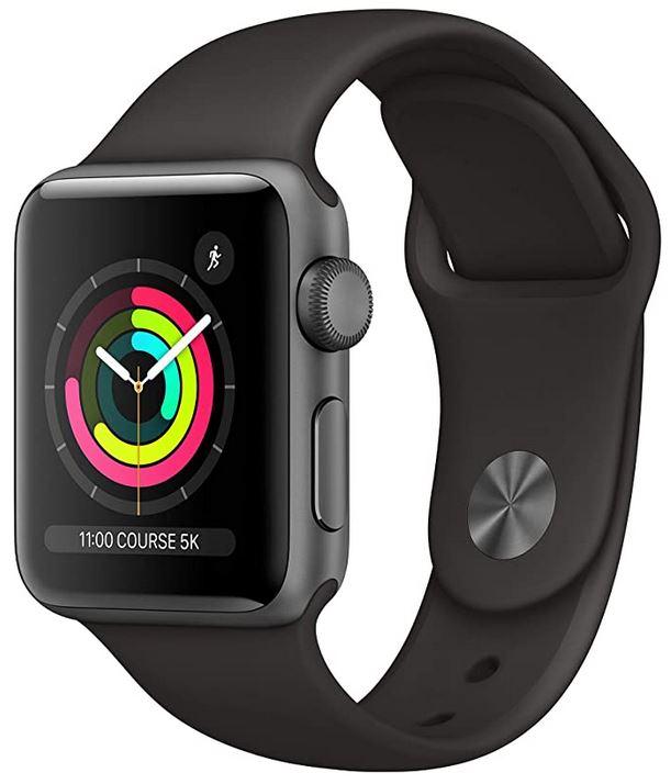 Apple Watch serie 3 de la marque Apple montre connectee avec boitier en aluminium gris