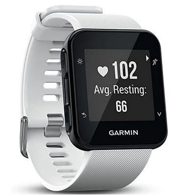 Garmin Forerunner 35 montre connectee speciale running avec un bracelet en silicone blanc