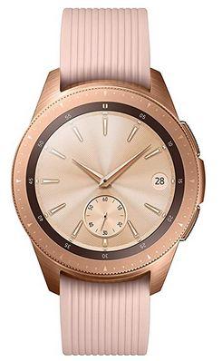 Samsung Galaxy Watch en acier couleur or rose montre connectee pour femme a moins de 150 euros