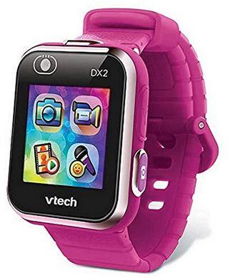 Vtech Kidizoom Smartwatch connect DX2 de couleur frambroise montre connectee pour fille de 5 a 13 ans