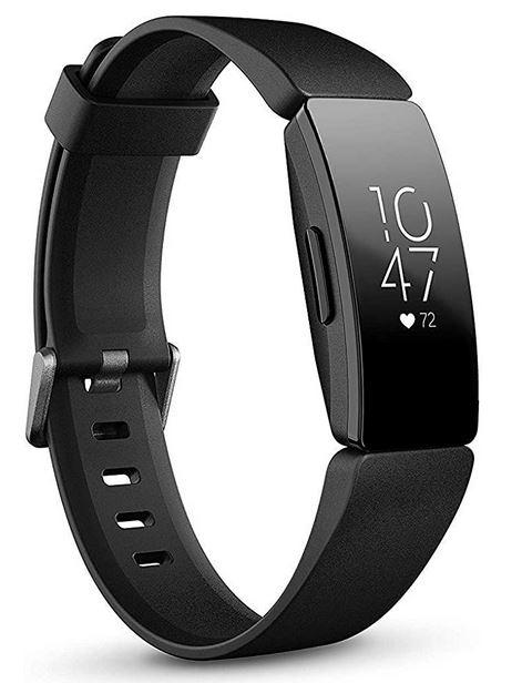 montre bracelet connecte de la marque Fitbit modele Inspire HR noir avec suivi de la frequence cardiaque compatible iOS et android