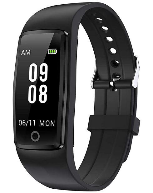 montre bracelet connecte noir de la marque Willful tracker dactivite et de fitness dentree de gamme