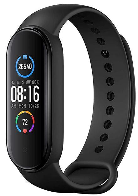 montre bracelet connectee noire de la marque Xiaomi modele Band 5 Smart Fitness Mi Band 5
