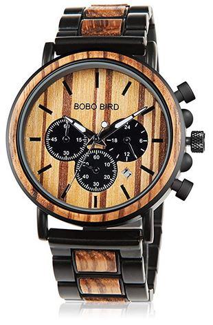 montre chronographe en bois pour homme de la marque Bobo Bird