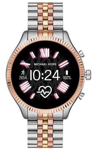 montre compatible iOS de la marque Michael Kors en acier inoxydable dore argente et rose gold modele connecte MKT5080