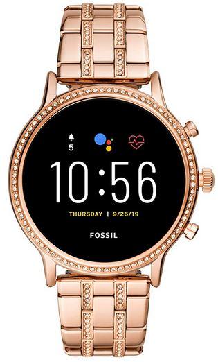 montre connecte Fossil pour femme Gen 5 en acier inoxydable rose gold