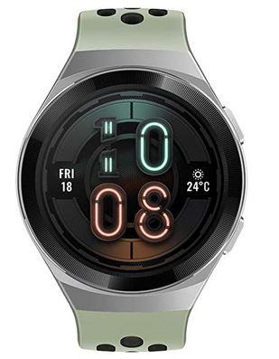 montre connectee Huawei GT2 verte pomme avec bracelet en silicone sport