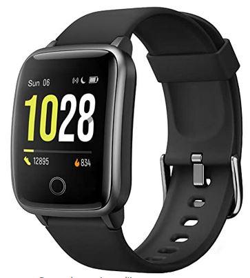 montre connectee Willful noir avec alarme chronometre GPS frequence cardiaque et bien plus