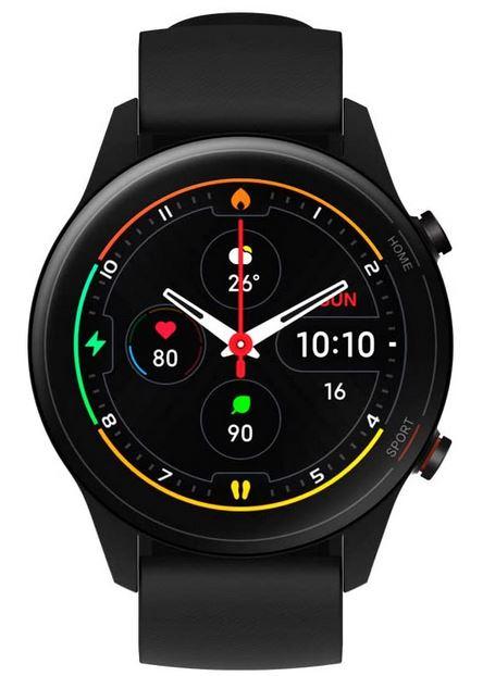 montre connectee Xiaomi Mi Watch noire avec ecran amoled tracker de sommeil et dactivite GPS notifications et de nombreuses autres fonctionnalites