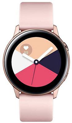 montre connectee galaxy watch active rose poudre avec tracker de sommeil et GPS de la marque Samsung