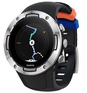 montre connectee pour faire du sport de la marque Suunto modele 5 entierement noire modele haut de gamme avec fonction GPS fiable
