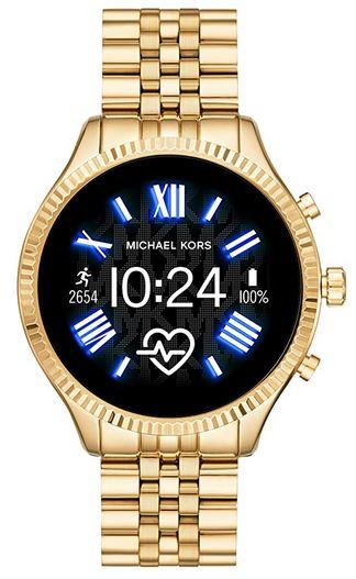 montre connectee pour femme de la marque Michael Kors modele lexington Gen 5 entierement dore