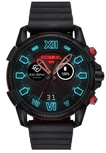 montre connectee pour homme de la marque Diesel entierement noire modele Full On Guard