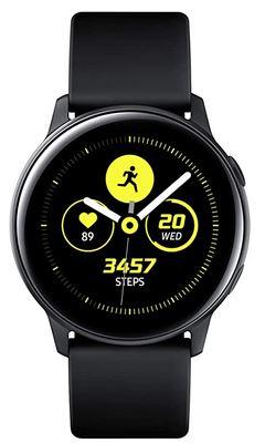 montre connectee pour homme de la marque Samsung modele Galaxy Watch Active noir pure avec bluetooth GPS et autres fonctionnalites