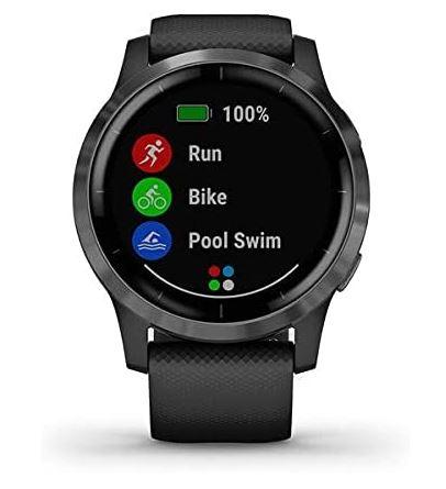 montre multisport connectee Vivoactive 4 noir de la marque Garmin