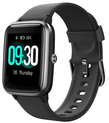 montre noire connectee de la marque Willful compatible avec un iphone apple
