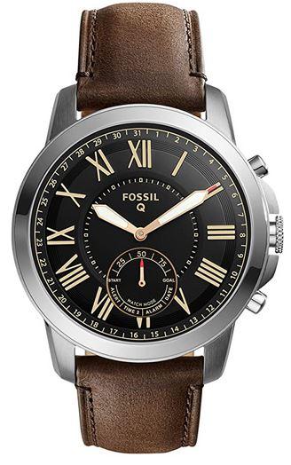 montre pour homme de la marque Fossil modele Q hybride compatible avec un smartphone android ou iOS