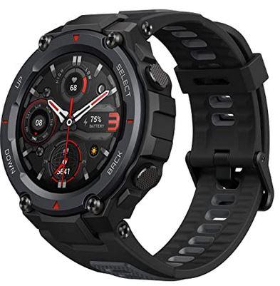 montre smartwatch connectee de la marque Amazfit T Rex noire avec fonction GPS ecran amoled et plus de 100 modes sportifs