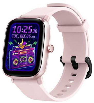 smartwatch connectee pas cher destinee aux femmes de la marque Amazfit avec plus de 70 modes de sport et GPS compatible avec Alexa iOS et android