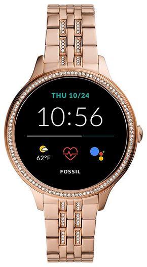 smartwatch fossil Gen 5 pour femme avec alertes telephones notifications et trackers divers