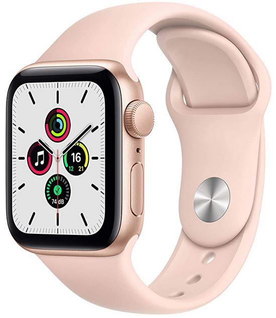 smartwatch pour femme Apple Watch SE rose avec un cadran de 40mm de diametre